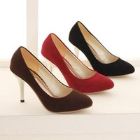 Cheap 2015 Hot Sale Sexy New Stiletto Heel Red Brown And Black Color Custom Made Wedding Shoes