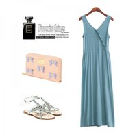 Cheap Cross vest full one-piece dress sleeveless long skirt