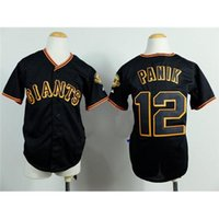 baseball player joe - Black Kids Baseball Jerseys Giants Joe Panik Baseball Wears Best Players Uniforms Discount Outdoor Sport Shirts Top Authentic Sportswear