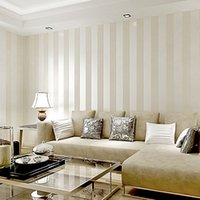 Wholesale Hot sale Metallic Wide Stripe Modern Wallpaper for wall living room Wallpaper roll Modern wall paper