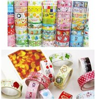 Wholesale Kawaii Decor tape lovely Cartoon Stationery DIY Making Sticker scrapbooking adhesive tape retail