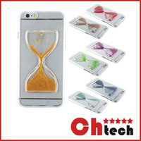 green sand - New Clear Sand Clock Sand Glass Transparent Flowing Hourglass Pattern Liquid Case For iPhone S Plus Covers