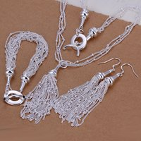 als fashion - silver jewelry set fashion jewelry Nickle free antiallergic Strands Earrings Bracelet Necklace Jewelry Set als gmbl