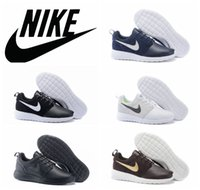 name brand shoes - NIKE ROSHE ONE SUEDE running shoes all black white retro genuine leather roshe sports shoes brand name winter sports shoes waterproof