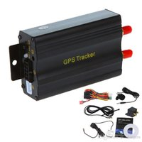 Wholesale GSM GPRS Tracking Vehicle Car GPS Tracker TK103A GPS103A Real Time Tracker Door Shock Sensor ACC Alarm