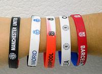 Wholesale Football Fans Supplies Hand Ring Bracelet Wrist Band Bracelet