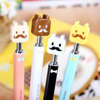 bear writing paper - Student Award Gift Writing School Office Beard Ballpoint Pen Cute Cartoon Bear Beard Style Pens Ballpen New