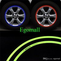 Wholesale 16 Strips M High quality Reflective Car Motorcycle Rim Stripe Wheel Decal Tape Stickers For Auto Car Motorcycle