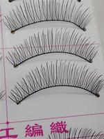 Wholesale Pair Pure hand False Eyelashes maquiagem Mink Eyelash Lashes Voluminous Makeup T217 sex products