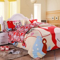 Cheap SHEETS Kids Lovely Cartoon Edge Of The Empty Oriental Gorgeous Campus Style Colourful Bed Sheets Deer Velvet Material 150*220cm,20 designs
