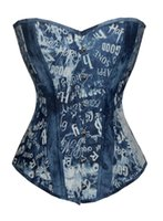 american stables - European and American denim corset dress sexy bone corset Corset court shelf stable supply of foreign trade