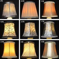 Wholesale LA04 fashion pendant E14 crystal cloth lamp cover diy handmade fabric