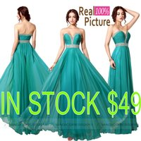 peacock dress - Cheap Coral Prom Dresses Long Chiffon Navy Peacock Formal Evening Gowns REAL IMAGE Occasion Dress A Line Sweetheart Party Gowns