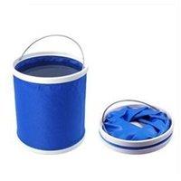 Wholesale Folding bucket car wash car bucket outdoor portable fishing bucket washing retractable Vehicle clean canvas supplies L bucket