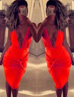 dressing and bandages - 2015 New Fashion Women and Big Girl Europe Style Sexy Deep V Dancing Party Dress Summer Women Skirt Dresses Good Quality Bandage Dress B