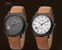 Wholesale Promotional products Curren Unisex Stylish Quartz Analog Watch Men Leather Strap Curren Watches Men Clock relogios masculino