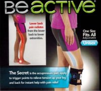 Wholesale HOT sell Beactive Pressue Point Brace Back Pain Acupressure Sciatic Nerve Be Active black Free by DHL