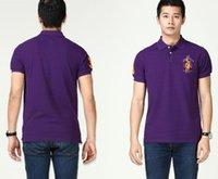 purple polo shirts - new camiseta polo de hombre de marca fashion men polo solid cotton short polo shirt red blue grey yellow purple m l xl xxl