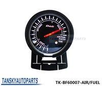 Precio de Luces del coche rojo-Tansky Defi RATIO 60mm MEDIDOR DE AIRE / COMBUSTIBLE Negro Soporte de alta calidad del coche auto Motor Gauge con Red White Light TK-BF60007-AIRE / COMBUSTIBLE