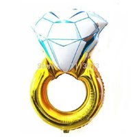 Wholesale 18inch pc Helium Inflable Foil Balloons Diamond Ring Balloon for Weeding artigos para festa de aniversario casamento