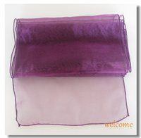 Wholesale New Purple Violet quot x108 quot Organza Table Runners Wedding Party Supply Decorations Many