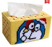animate cross - Newest D Cross stitch DIY Tissue Box Case Arts and crafts The sitting room the bedroom animated cartoon modern