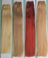 Wholesale 17 pieces A very thick bottom inch Remy Human hair extensions hair wefts DHL free