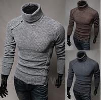 Wholesale 2014 new fashion slim men s Sweaters Casual men s clothing Turtlenecks mens s Sweatshirts white