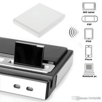 Wholesale Bluetooth A2DP Music Receiver Audio Adapter for ipad for iPod for iPhone Pin Dock Speaker Black white