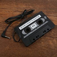Cheap car dvd NEW AUDIO CAR CASSETTE TAPE ADAPTER CONVERTER 3.5 MM FOR IPHONE IPOD MP3 AUX CD #L0192460