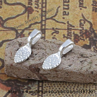 Wholesale Silver Tone Alloy Pendant Charms Glue On Bail mm