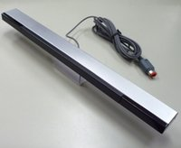Wholesale New Wired Infrared Ray Sensor Bar for Nintendo Wii Black with Silver Stand