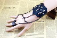 african style decorating - 2016 New Arrive Fashion Punk Style Personalise Bullet Decorated Leather Wristband Bracelet Bangle Hanging Ring Gift