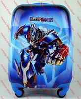 Wholesale Top Quality Cheap inch ABS Children Travel Bag with Wheels Luggage Surface with Transformers Pattern