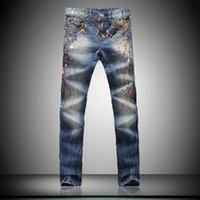 best blue jeans for men - Blue Straight Jeans for Men European Style Casual Design Trousers Zipper Fly Best Men Jeans Mid Waist for Sale NZK