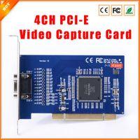 achat en gros de h 264 dvr pci-Livraison gratuite 4 CH Caméras DVR CARD H.264 D1 4CH PCI-E carte de capture vidéo