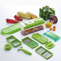 wholesale plastic fruit - 12 Set Nicer Dicer Plus Vegetable Fruit Multi Grater Peeler Cutter Chopper Slicer Precision Cutting Kitchen Cooking Tools