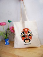 beijing transfers - Beijing opera mask thermal transfer cotton eco friendly bag