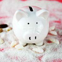 money box - 2015 New Children s Favourite lovely white High Qulity ceramic piggy coin box Money Box for gift piggy bank for money Saving Bank