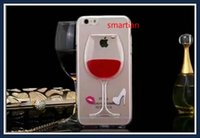 glass wine bottle - Cell Phone Clear Case for iPhone S quot Plus Liquid Quicksand Tall Red Wine Cocktail Glass Beer Bottle Transparent Back Cover