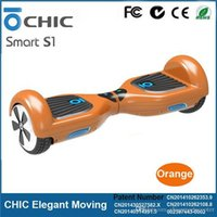Wholesale CHIC Smart S1 Smart Self Balancing Scooters inch Tyre Electric Drifting Board with Wireless Control Mobility Skateboard Km Mileage