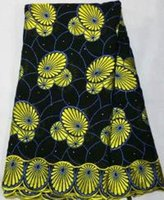 african clothing - Swiss new design yellow black African lace fabric for parties and weddings cotton embroidery african clothes