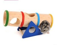 Wholesale 16 CM Good quality colorful wooden hamster seesaw toys small pet toy w2011