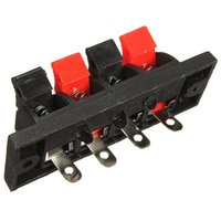 Switches amp push - 2015 Brand New Way AMP Stereo Speaker Terminal Plate Strip Push Release Connector Block