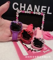 animal outlet - Factory outlets drop shipping wrist watches Diamond hello kitty watches KT cat fashion led digital watches Cartoon Girl Watches Silicone