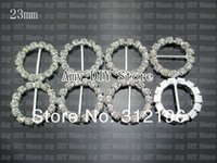 Wholesale EMS mm Bling Crystal Ring Rhinestone Button Buckles Ribbon Sliders Hair Dress Jewelry Accessory