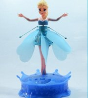 Wholesale Frozen Princess Dolls flying Elsa Toys s Automatically start Flying Induction Frozen Toys rc helicopter Brinquedos Kids Dolls