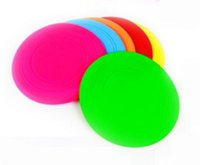 Wholesale New Arrivals Dog Puppy Cat Pet Training Fetch Toy Frisbee Flying Disc Silicone Tooth Resistant Outdoor Large Dog Training