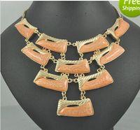 Wholesale new fashion colour white fashion choker necklace chains collar bib Statement necklace