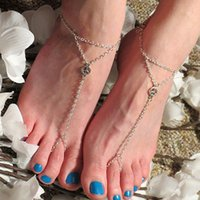 anklets meaning - Summer fashion joker new triangulation chain simple natural peace symbol Even mean anklets b4xr